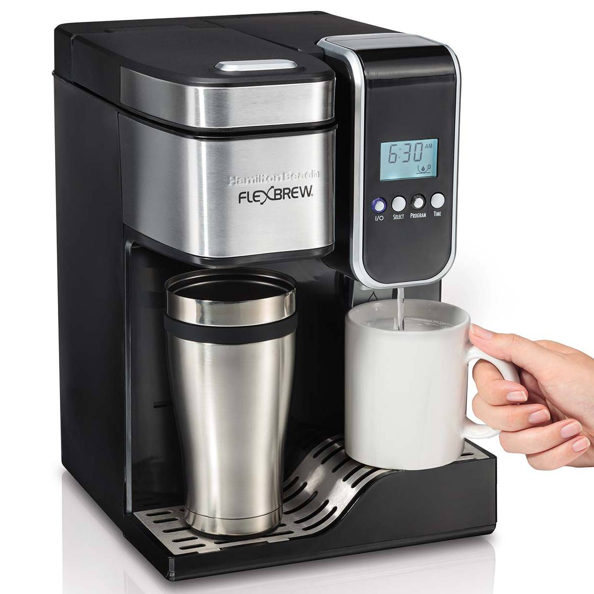 Hamiltonbeachca Flexbrew Programmable Single Serve Coffee