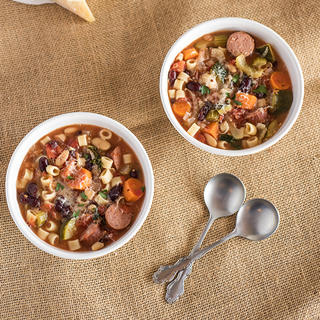 Slow Cooker Minestrone with Kale & Kielbasa  image